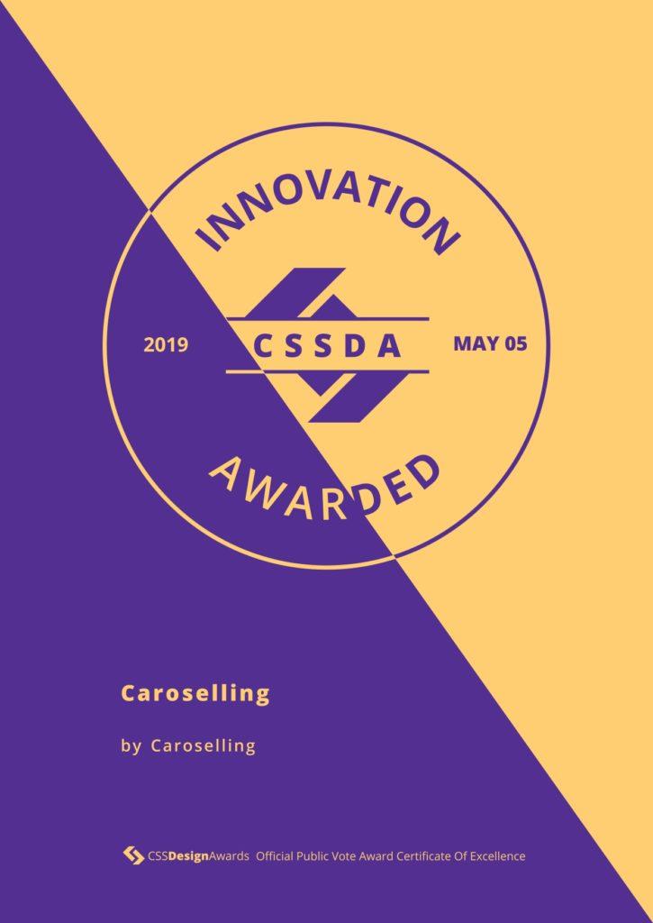 Innovazione | CSS design awards | premi sito | studio creativo caroselling | design e comunicazione mantova