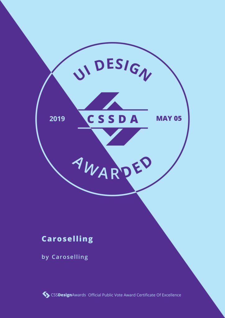 UI design | CSS design awards | premi sito | studio creativo caroselling | design e comunicazione mantova