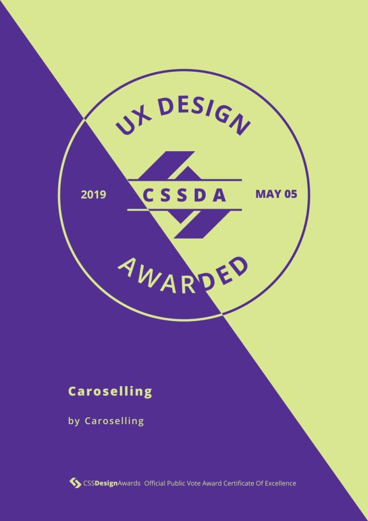 UX design | CSS design awards | premi sito | studio creativo caroselling | design e comunicazione mantova