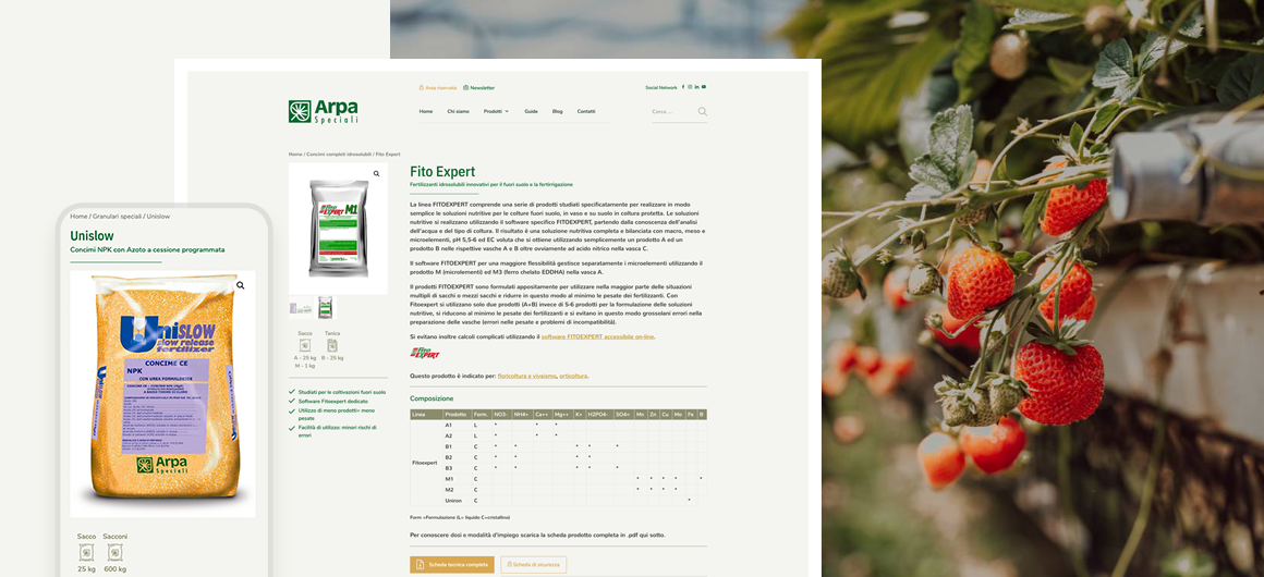 pagina prodotto arpa speciali s.r.l. mantova | sito web caroselling digital studio