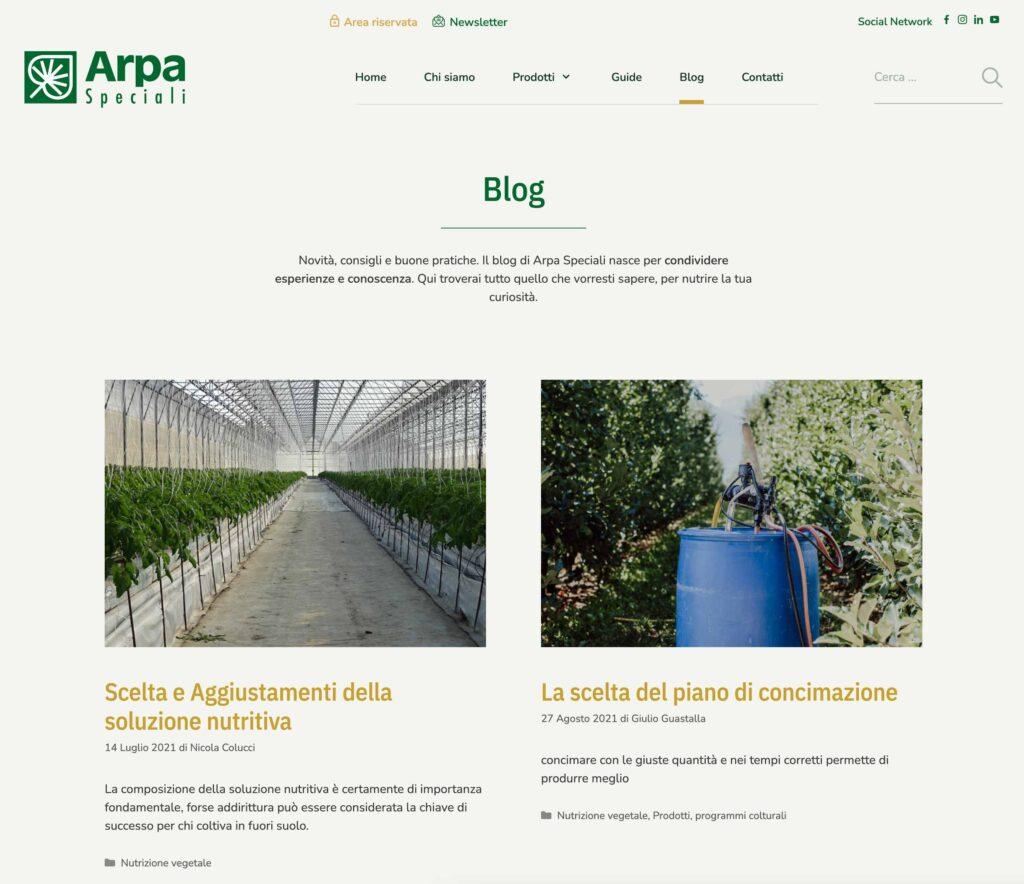 blog aziendale arpa speciali