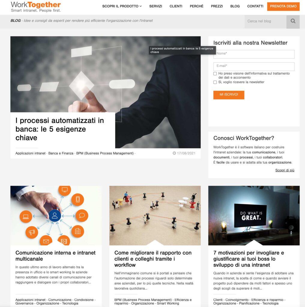 blog aziendale worktogether